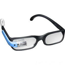Guy Google Glasses Sticker