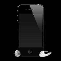 Iphone 4g Headphones Shadow Sticker