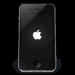 Iphone Black Apple Sticker