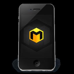 Iphone Black Musett Sticker