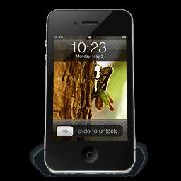 Iphone Black W1 Sticker
