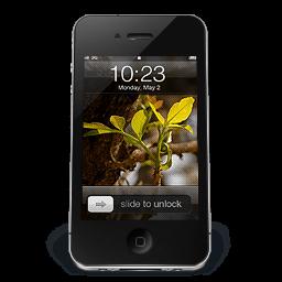 Iphone Black W2 Sticker
