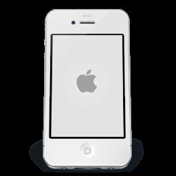 Iphone White Apple Sticker