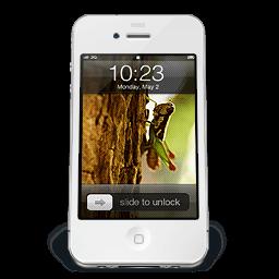 Iphone White W1 Sticker