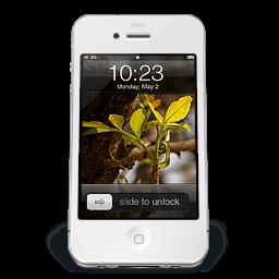 Iphone White W2 Sticker