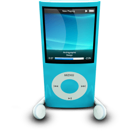 Ipodphonesblue Sticker