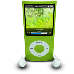 Ipodphonesgreen Sticker