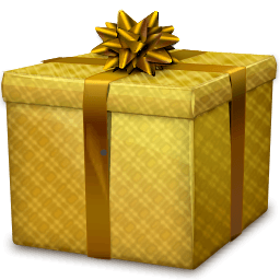 Gold Gift Box Sticker