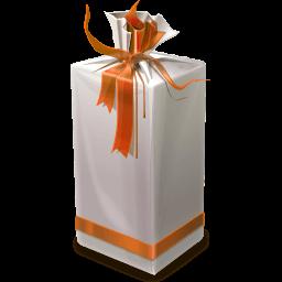 Caramel Gift Box Sticker