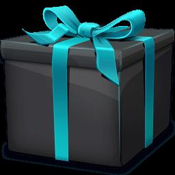 Black Gift Box Sticker