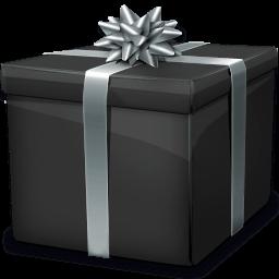 Black Gift Box 2 Sticker