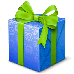 Blue And Green Gift Box Sticker