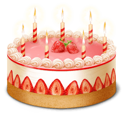 Strawberry Birthday Cake Sticker