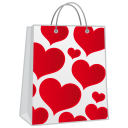 Hearts Shoppingbag Sticker