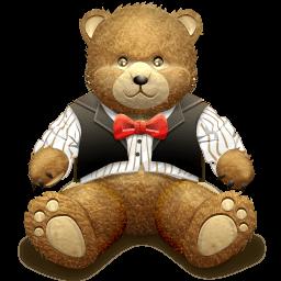 Gift Brown Bear Sticker
