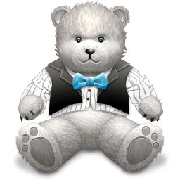 Gift Light Grey Bear Sticker