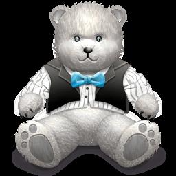 Gift Light Grey Bear Sticker