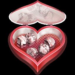Heart Candies Open Sticker