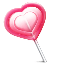 Love Heart Lolly Sticker
