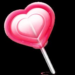 Love Heart Lolly Sticker
