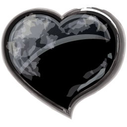 Heart Black Sticker