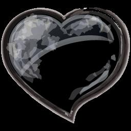 Heart Black Sticker