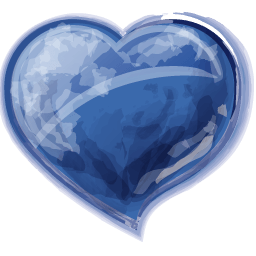 Heart Blue Sticker