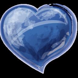 Heart Blue Sticker