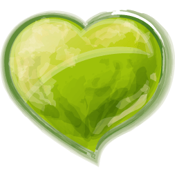 Heart Green Sticker
