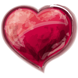 Heart Red Sticker