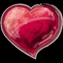Heart Red Sticker
