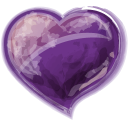 Heart Violet Sticker