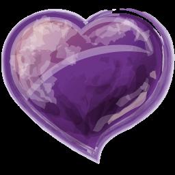 Heart Violet Sticker