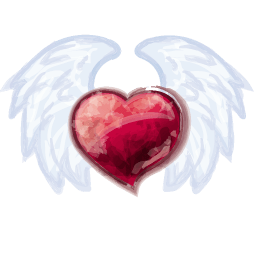 Wing Heart Sticker