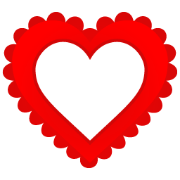 Heart Border Sticker