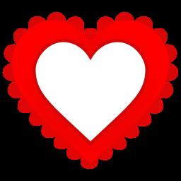 Heart Border Sticker