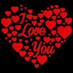Heart I Love You Sticker