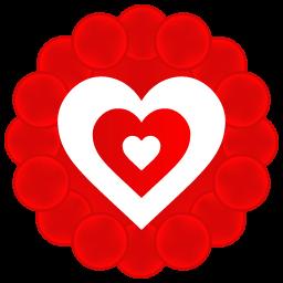 Heart Pattern Sticker