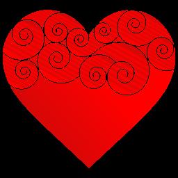 Heart Round Pattern Sticker