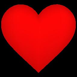 Heart Shadow Sticker