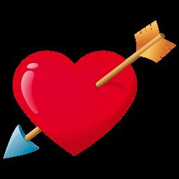 Arrow Through Heart Sticker