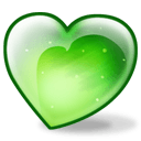 Apple Heart Sticker