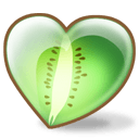 Kiwi Heart Sticker