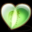 Kiwi Heart Sticker