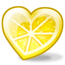 Lemon Heart Sticker