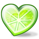 Lime Heart Sticker