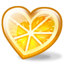 Orange Heart Sticker