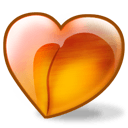 Peach Heart Sticker