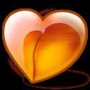 Peach Heart Sticker