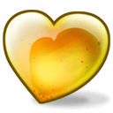 Pear Heart Sticker